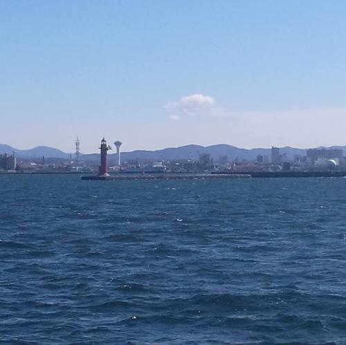 9月17日 函館港が見えてきた!